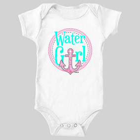 WaterGirl Rope Anchor (Pink & Teal) Baby Bodysuit