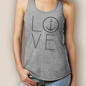 WaterGirl Love Anchor Signature Tri-Blend Racerback (More Color Choices)