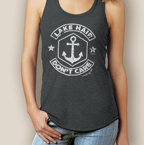 Lake Hair Don't Care Signature Tri-Blend Racerback (More Color Choices)