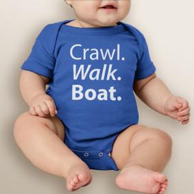 Crawl. Walk. Boat.  - Baby Boy Bodysuit