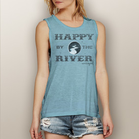 Happy By The River -  Muscle Tank (more color choices)