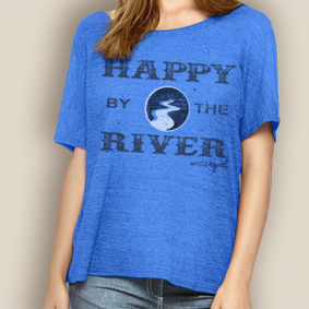 WaterGirl Relaxed Tee- Happy By The River
