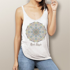 River Hippie -  Flowy Side Slit Tank (more color choices)
