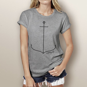 Simple Anchor- Boating T-Shirt (more color choices)