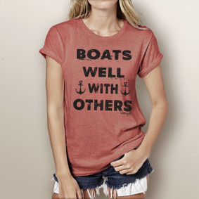 Boats Well With Others - Watergirl T-Shirt (more color choices)