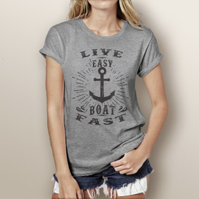 Life Easy Boat Fast - Watergirl T-Shirt (more color choices)