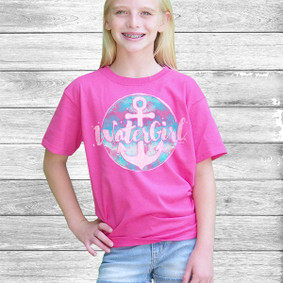 Youth Short- Sleeve-  Watergirl Comfort Color Design