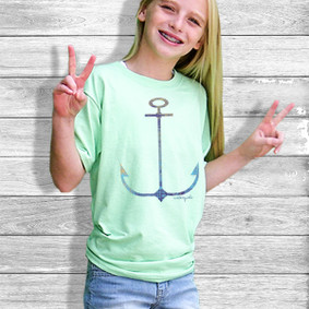 Youth Short- Sleeve-  Watergirl Signature Anchor