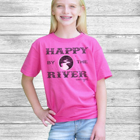 Youth Short- Sleeve-  Happy by the River