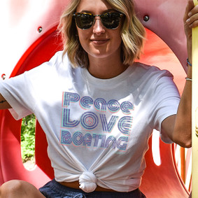 Peace Love & Boating - Watergirl T-Shirt (more color choices)