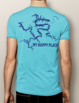 My Happy Place LOTO (or Your Custom Lake)- Men's Crew (More Color Choices)