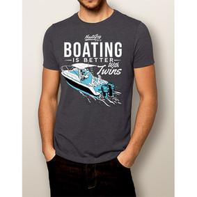 Men's Boating T-Shirt - NautiGuy Twins