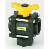 Banjo 3-Way Poly Ball Valve