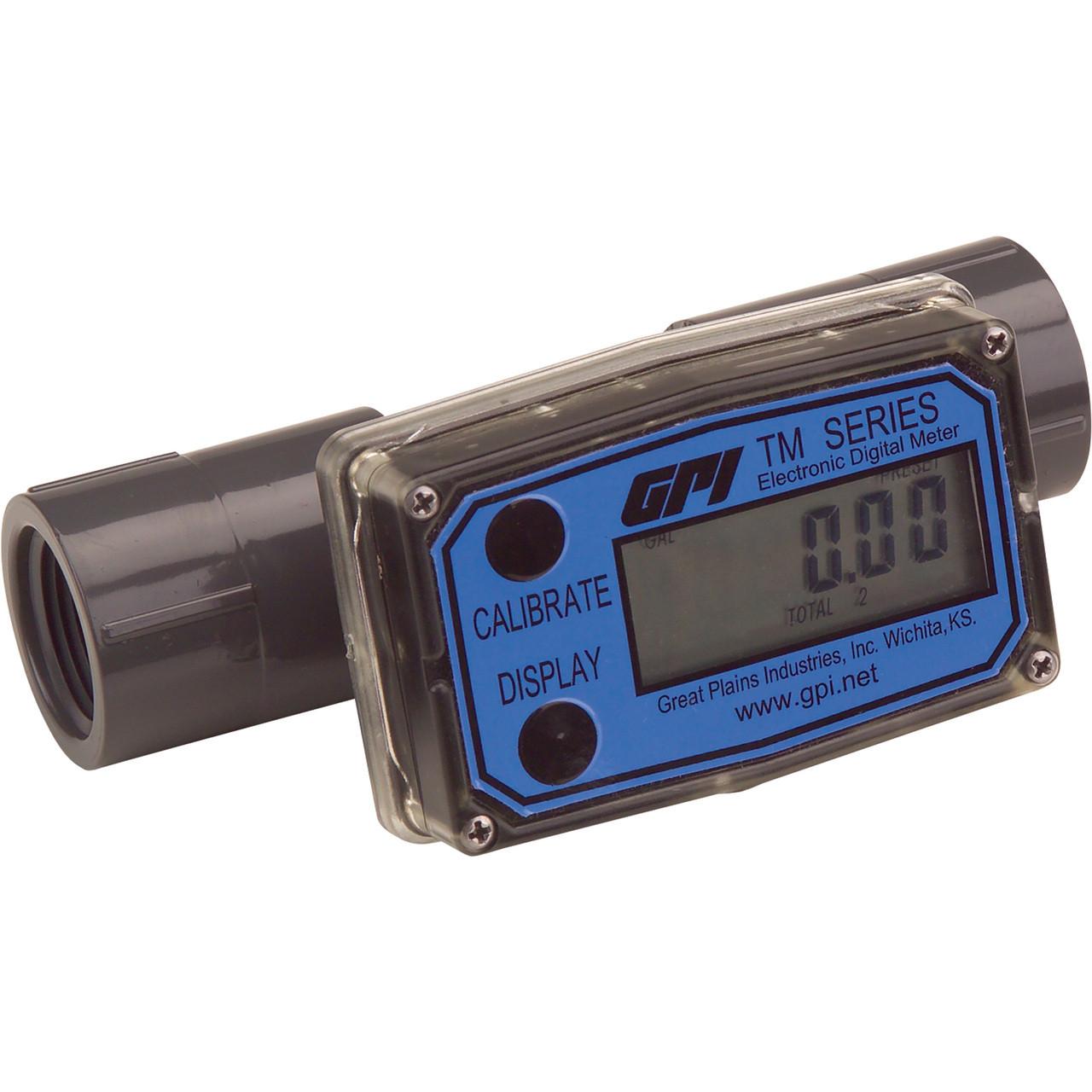 Digital Flow Meter : Gpi inline digital flow meter