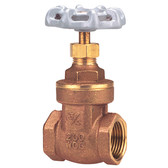 "3"" Gate Valve - Brass, Full Port, Threaded Ends TI-8"
