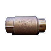 "Bronze Cast Check Valve with 1"" Male x 1"" Female"