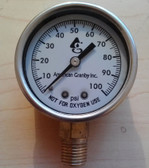 Liquid Filled Steel Pressure Gauge - 100 PSI