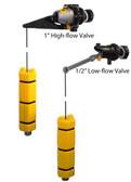 High & Low Flow Mechanical Backup Valves