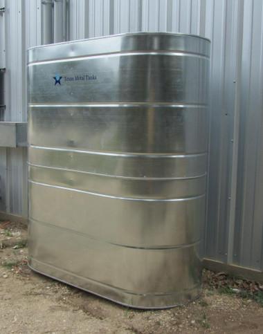 467 Gallon Slimline Galvanized Steel Water Storage Tank