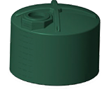 5100 Gallon Rotoplas Rainwater Harvesting Water Storage Tank - Short