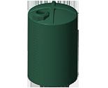 5100 Gallon Rotoplas Rainwater Harvesting Water Storage Tank - tall