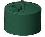 3000 Gallon Short 3 Layer Rotoplas Water Storage - Green