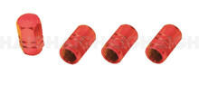 Tyre Valve Cap Set Alloy Red ( TG17)