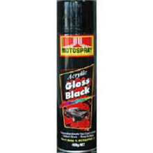 Motospray Acrylic Gloss Black 400g (MSGB-400G)