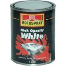 Motospray High Opacity White Acrylic 4L (MSHOW-4L)