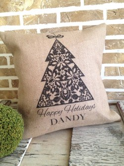 Personalized Christmas Tree Pillow
