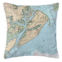 HIlton Head Nautical Chart Pillow