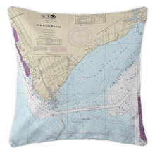 Newport News, VA Nautical Chart Pillow