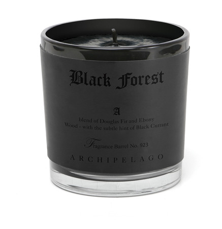 Archipelago BLACK Forest Letter Press Candle