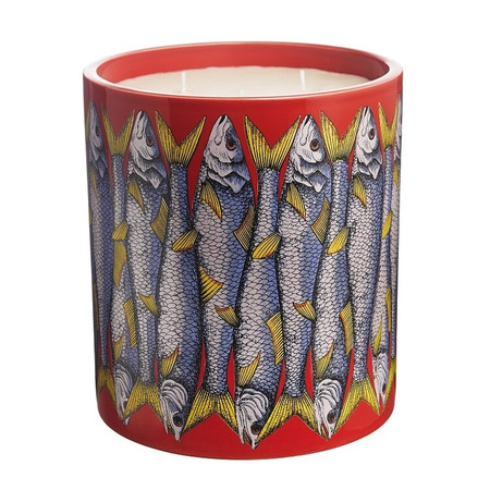 Fornasetti SARDINE ROSSO Large Candle