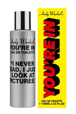 """Comme des Garcons Andy Warhol's You're in.  """"I Never Read, I Just Look At Pictures."""" Eau de Toilette"""