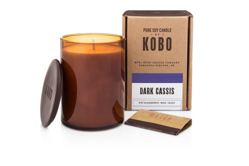 KOBO Woodblock - Dark Cassis - Candle