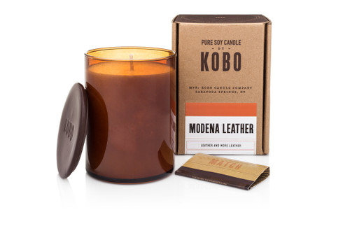 KOBO Woodblock - Modena Leather - Candle