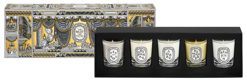 Diptyque 5 Votive Holiday Candle Gift Set