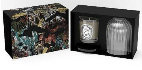 Diptyque Holiday Photophore Feu de Bois set