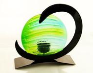 Neutron Tealight Candle Holder (Green)