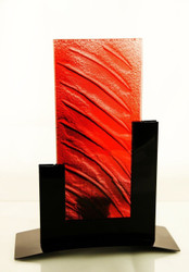 Metro Tealight Candle Holder  (Red)