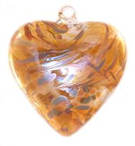 """Large Heart """"Caramel"""" Iridized"""