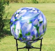 "Glass Gazing Ball ""Garden View"" 12 Inch"