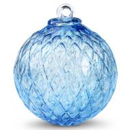 Diamond Optic Friendship Ball, Copper Blue (4 inch)