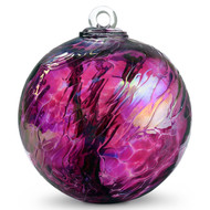 Witch Ball Iridescent Wine Red