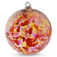 Dark Red, Orange & Gold 4 Inch Kugel (Coral)