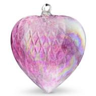 Diamond Optic Extra Large Heart, Wine Red Iridized