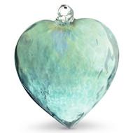 Diamond Optic Extra Large Heart, Emerald Green Iridized
