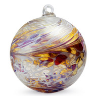 "Friendship Ball ""Garnets & Gold"" 4 Inch Kugel Iridized"