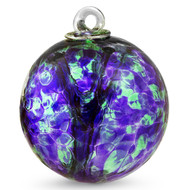 "Witch Ball ""Emerald Green / Hyacinth"" 4 Inch"
